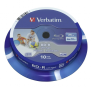 Диск Blu-Ray 25Gb 6x Verbatim, 1шт